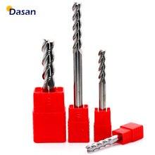1PC młyn aluminium 3mm 4mm 5mm 6mm 8mm 10mm młyn koniec bardzo długi HRC60 3 flet frez z węglika wolframu frezy narzędzie dla