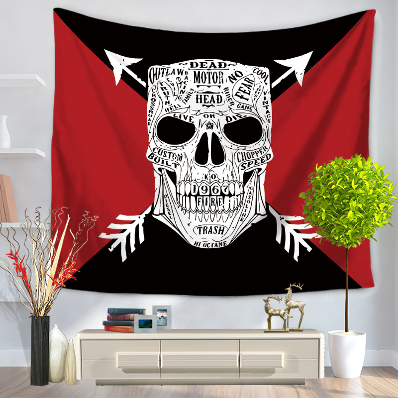 Image 5 - CAMMITEVER Geometry Skull Eyes Hot Sale Tapestry Indian Mandala Tapestry Hippie Wall Hanging Tapestries Boho Bedspread New In-in Tapestry from Home & Garden