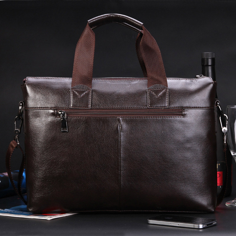 2017 Men Casual Briefcase Business Shoulder Top Leather Bag Men Messenger  Bags Computer Laptop Handbag Bag Men s Travel Bags-in Crossbody Bags from  Luggage ... d965fbdb640dd