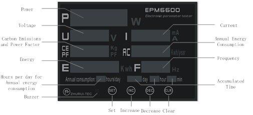 EPM6600 300V / 30A / 9kw kintamos srovės vienfazių elektros - Matavimo prietaisai - Nuotrauka 6