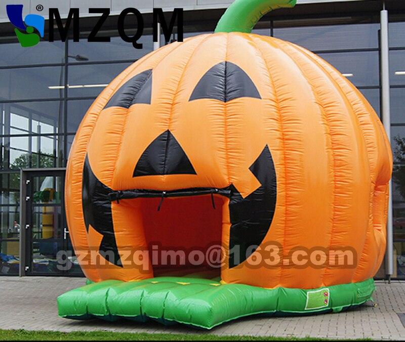 Livraison aérienne gratuite à porte, Halloween ferme grand géant citrouille rebond gonflable saut pad videur, enfants et adultes saut oreiller