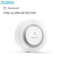 Original Mijia Aqara Honeywell Smoke Alarm Detector Audible Visual Alarm Fire Security System For Xiaomi Mi Home APP Aqara Home