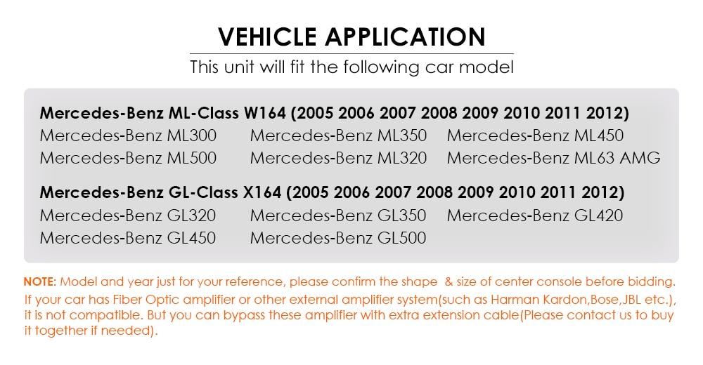 Mercedes/Benz/GL Spencerslimo.com reproductor Din