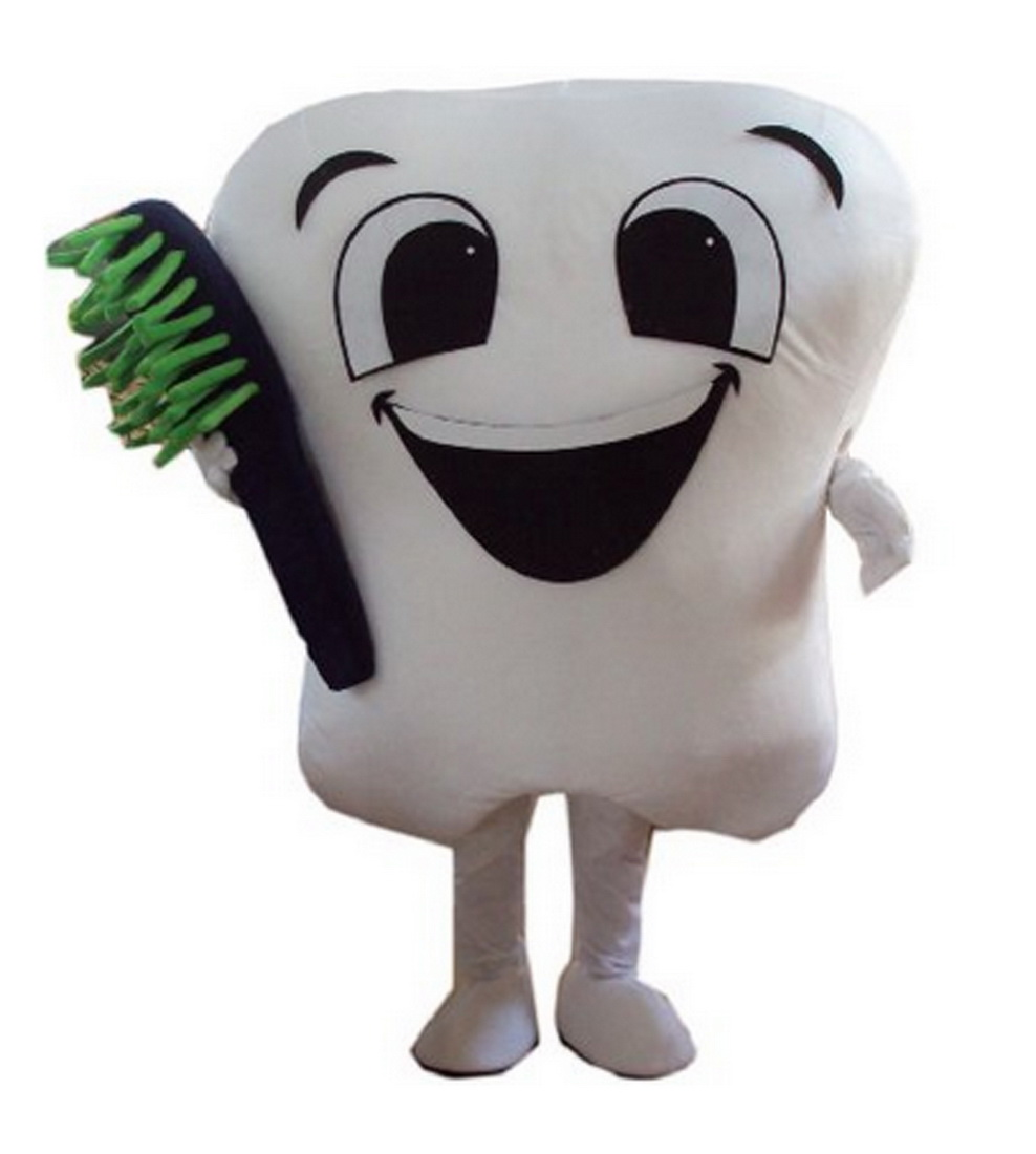 Teeth and toothbrush Mascot Costume mascot costumes for adults christmas Halloween Outfit Fancy Dress Suit Free Shipping image