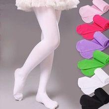 Популярные детские колготки для девочек, цветные колготки, чулки, Стрейчевые хлопковые колготки для балета