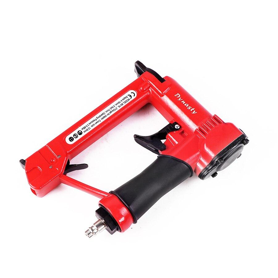 Hard-Working 1/2 Air Stapler 8016 Pneumatic Fine Wire Crown Stapler Gun Nail Guns Air Nailer U Style Nails Tools