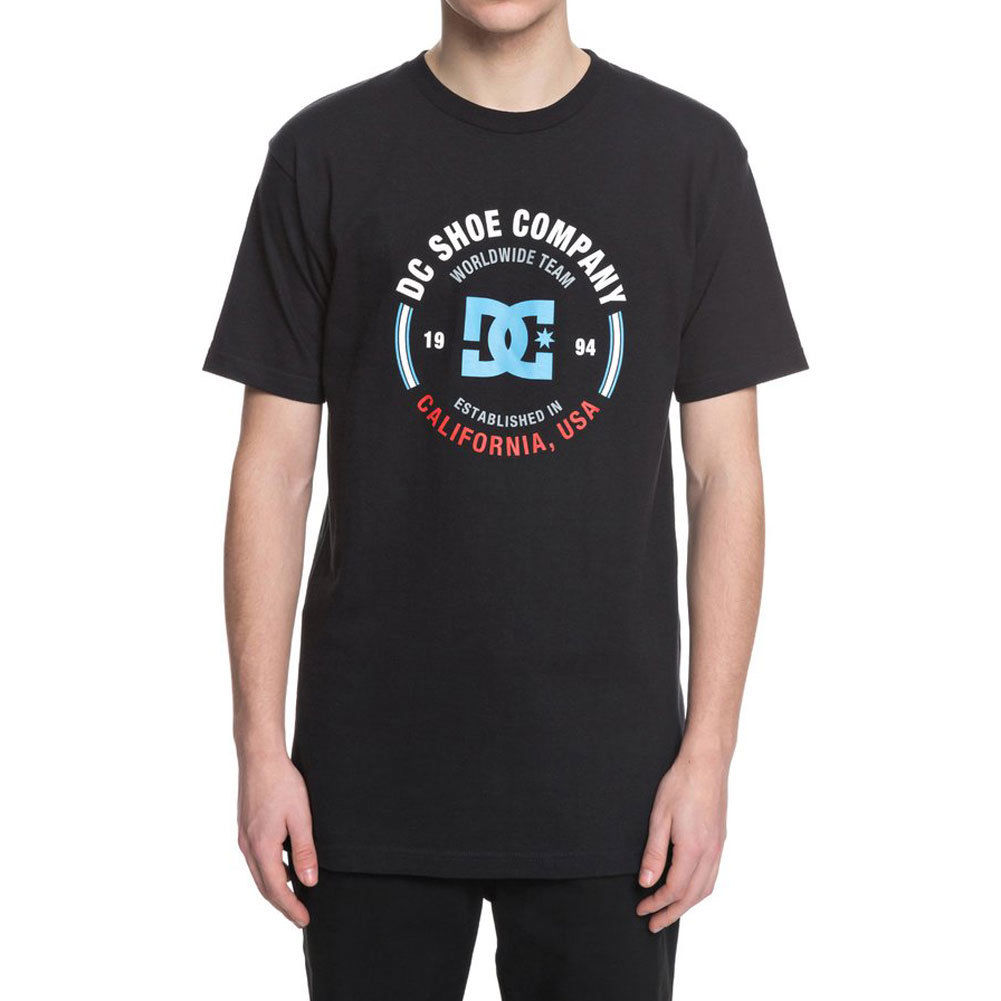 DC Shoes Mens Round About T Shirt Black Tee T-Shirt Clothing Apparel
