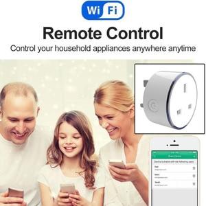 Image 3 - 2 szt opakowanie inteligentna ładowarka z LED RGB światła gniazdo brytyjskie pilot bezprzewodowy WIFI Home Voice Control współpracuje z Google domu mini