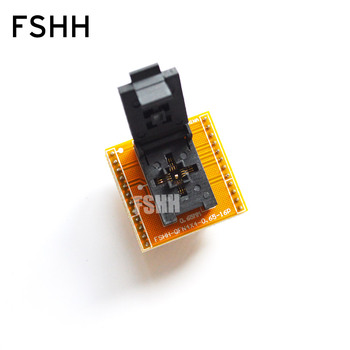 FSHH QFN16 to DIP16 Programmer adapter WSON16 UDFN16 MLF16 ic socket Pin pitch=0.65mm Size=4x4mm m74hc237b1 m74hc237b dip16