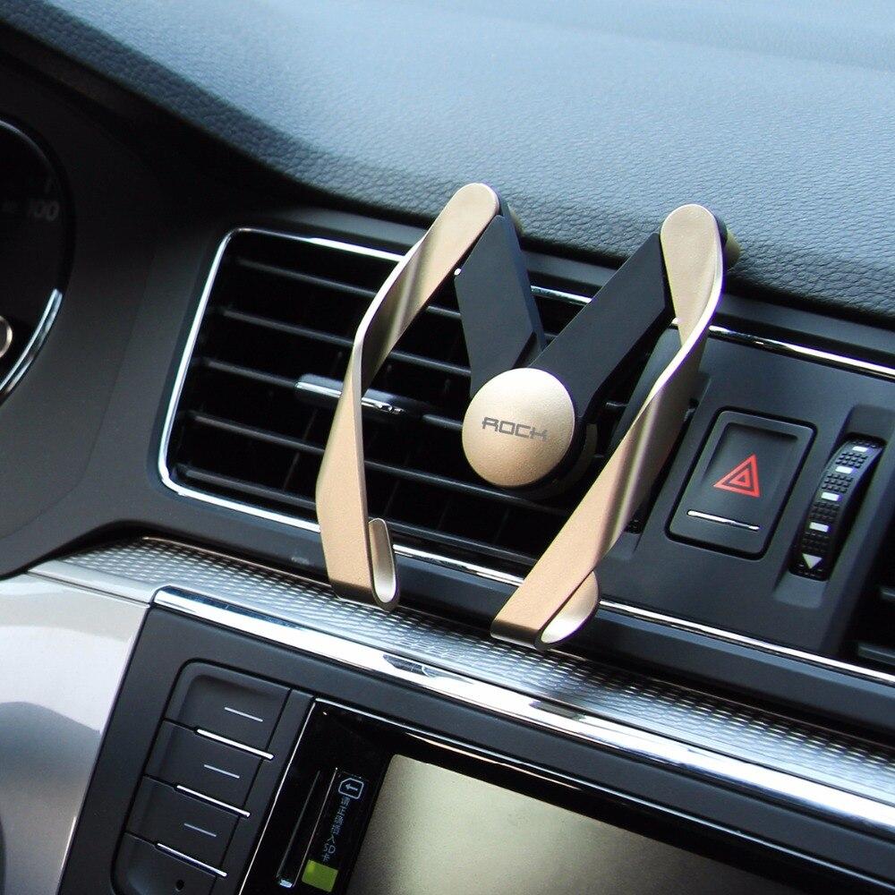imágenes para Car-styling sostenedor del teléfono original rock para iphone 7 samsung universal 4-7 pulgadas de pantalla del coche material del abs de lujo