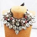 2016New diseño Marca Cadena de Cinta Collar de diamantes de Imitación Collar de la Declaración Única de Joyería De Las Mujeres