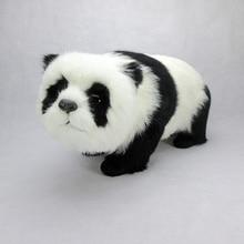 big simulation white&black panda toy polyethylene&fur panda doll gift about 43x19x21cm