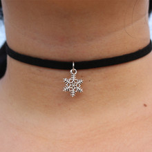 Choker Necklaces Men Women Black Velvet Suede Leather Short Collares Fashion Jewelry Gothic 90's Bijoux Steampunk Christmas Gift