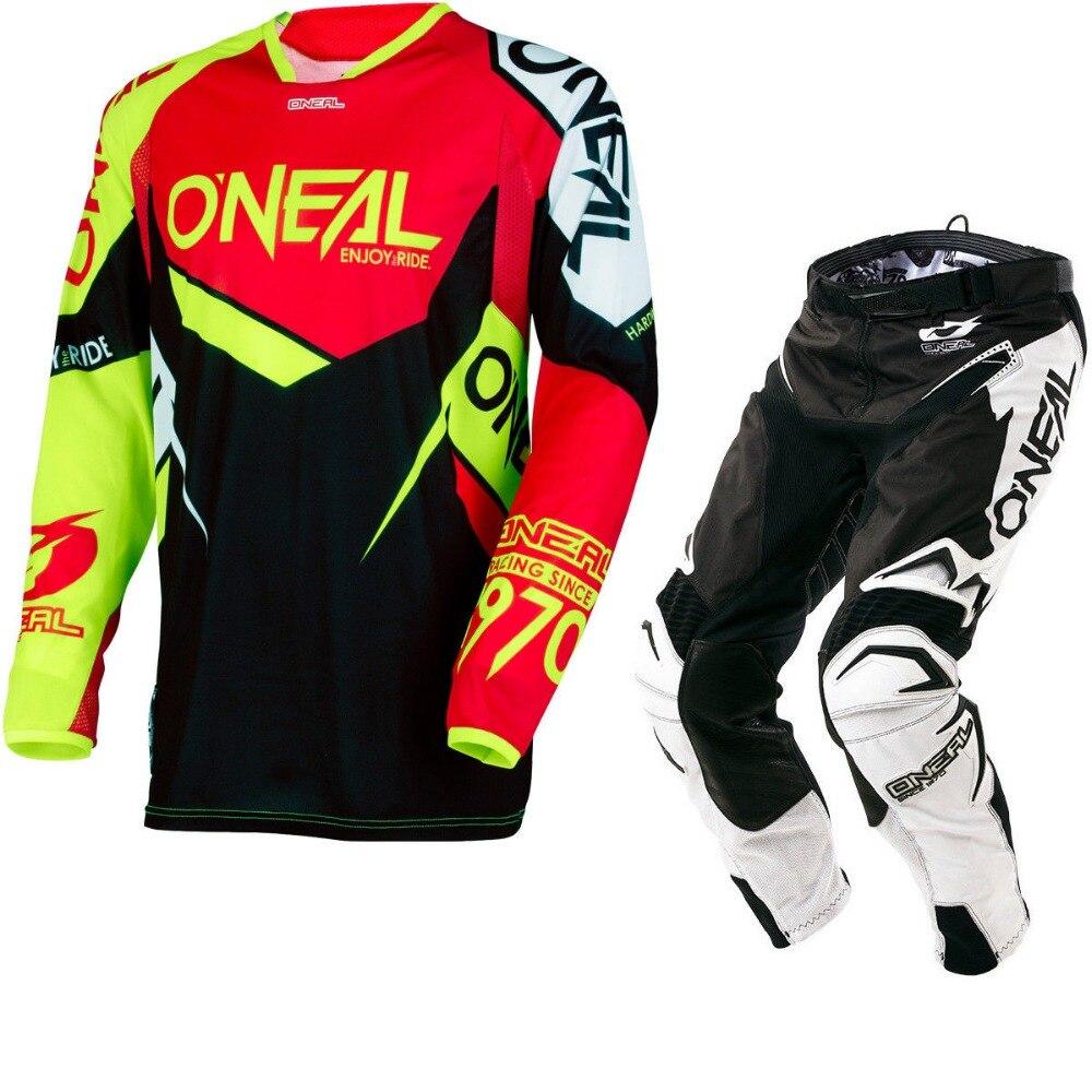 2018 NEW Oneal MX Element Black Red Black Jersey Pant Dirt Bike Biking Racing Motocross Jerseys Set брюки asics брюки jersey pant