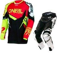 2018 NOWY Oneal MX Element Czarny Czerwony Czarny Jersey Pant Dirt Bike Kolarstwo Wyścigi Motocross Koszulki Zestaw