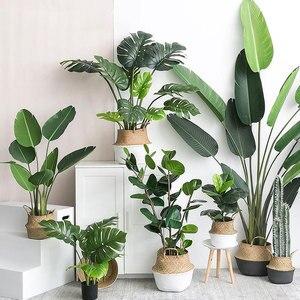 Image 1 - النباتات الاصطناعية الأخضر السلاحف يترك حديقة ديكور المنزل 1 باقة المكسيكي الخريف العشب الاصطناعي المزخرف النبات