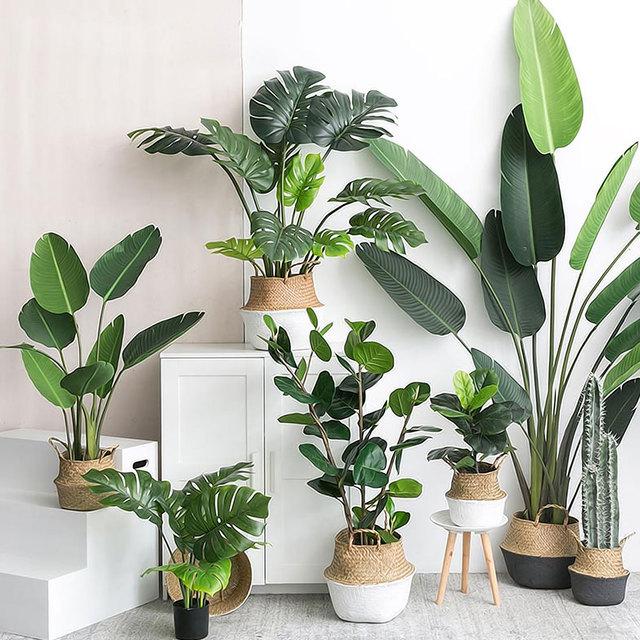 النباتات الاصطناعية الأخضر السلاحف يترك حديقة ديكور المنزل 1 باقة المكسيكي الخريف العشب الاصطناعي المزخرف النبات