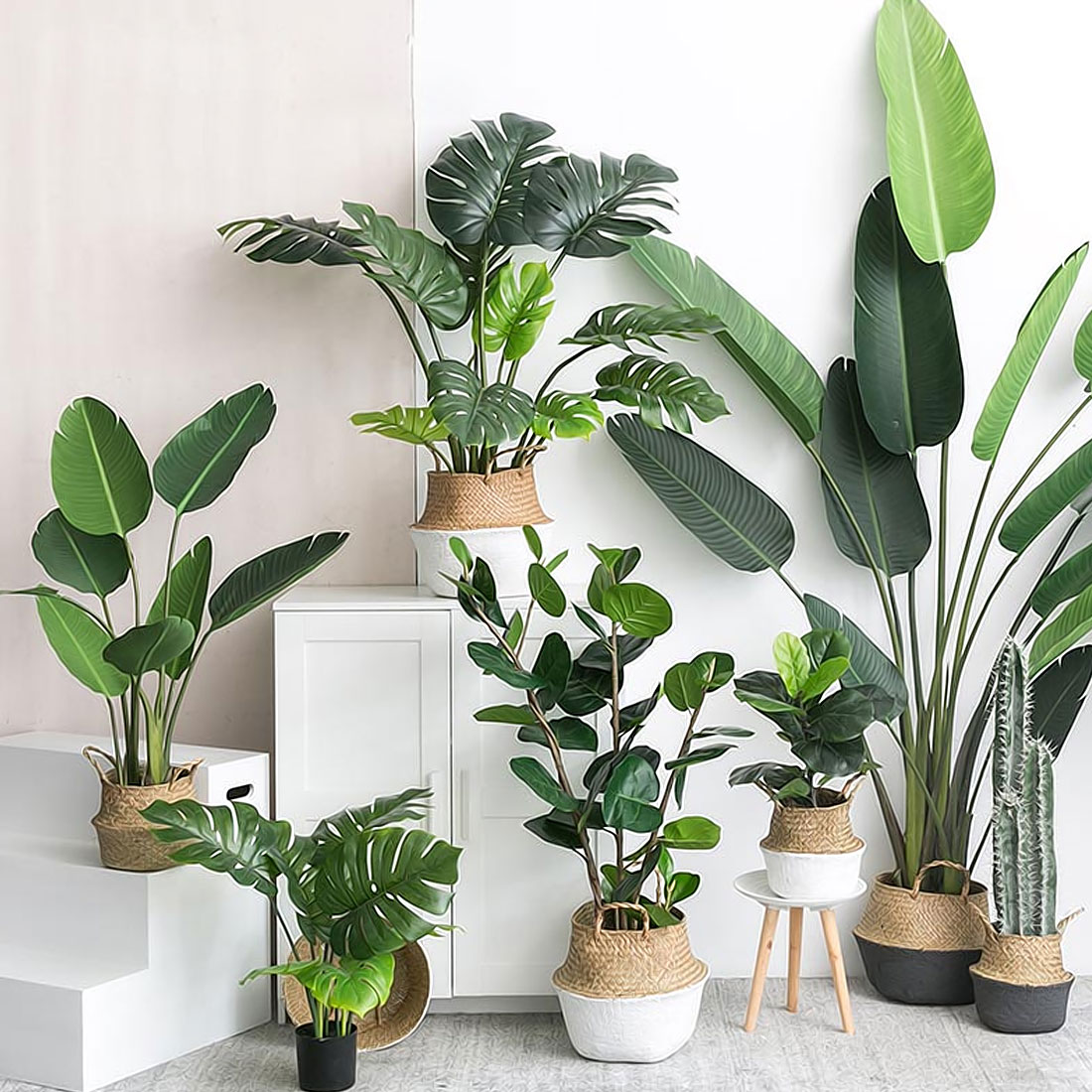 Home Decor Plants Artificial Plants Green Turtle Leaves Garden Home Decor 1