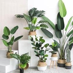 Plantas artificiais folhas de tartaruga verde jardim decoração para casa 1 buquê mexicano outono decoração planta de grama artificial