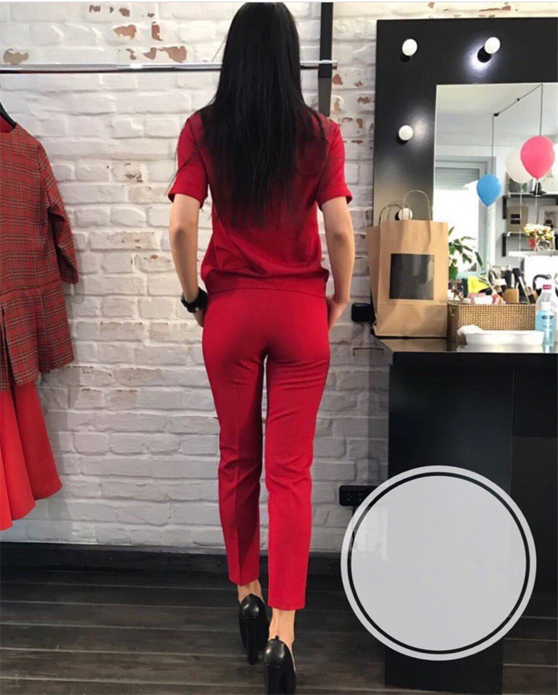 Fashion casual suit 2018 summer wear short sleeved jacket, western style, Nine minutes of pants, two sets of small pants 10