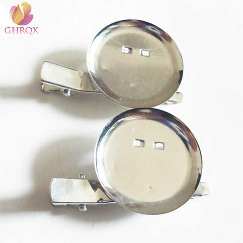 Ghrqx Hot Jual 5 Pcs 20mm25mm/30 Mm/35 Mm Bros Belakang Bar Perak Bros Dasar Spacer Diy temuan Perhiasan Aksesoris