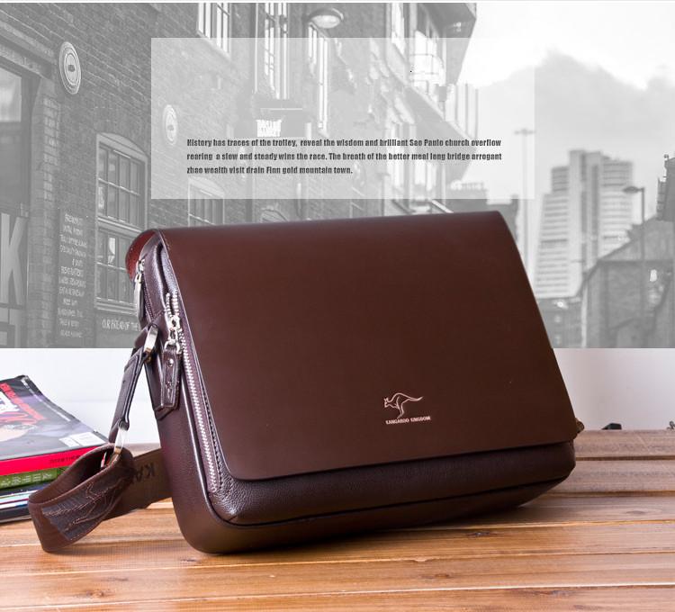 New Arrived luxury Brand men's messenger bag Vintage leather shoulder bag Handsome crossbody bag handbags Free Shipping 16