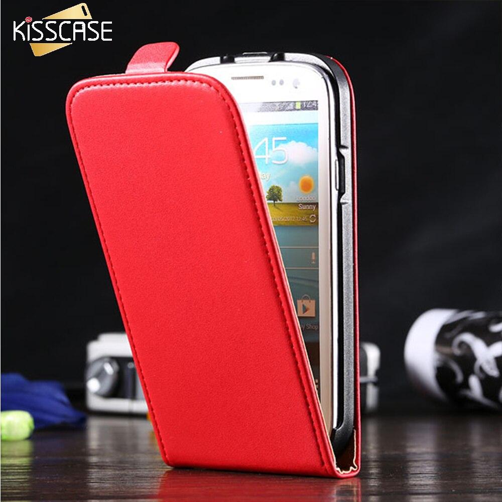 Kisscase para samsung galaxy s3 s4 teléfono case de cuero de negocios para samsu