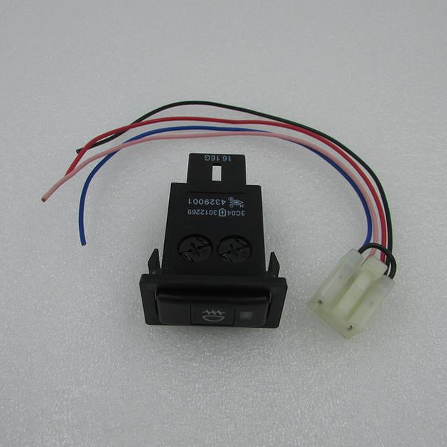 Para BYD F3 Mazda instalação de luz de nevoeiro depois de comutação interruptor de luz interruptor de luzes diurnas caudas