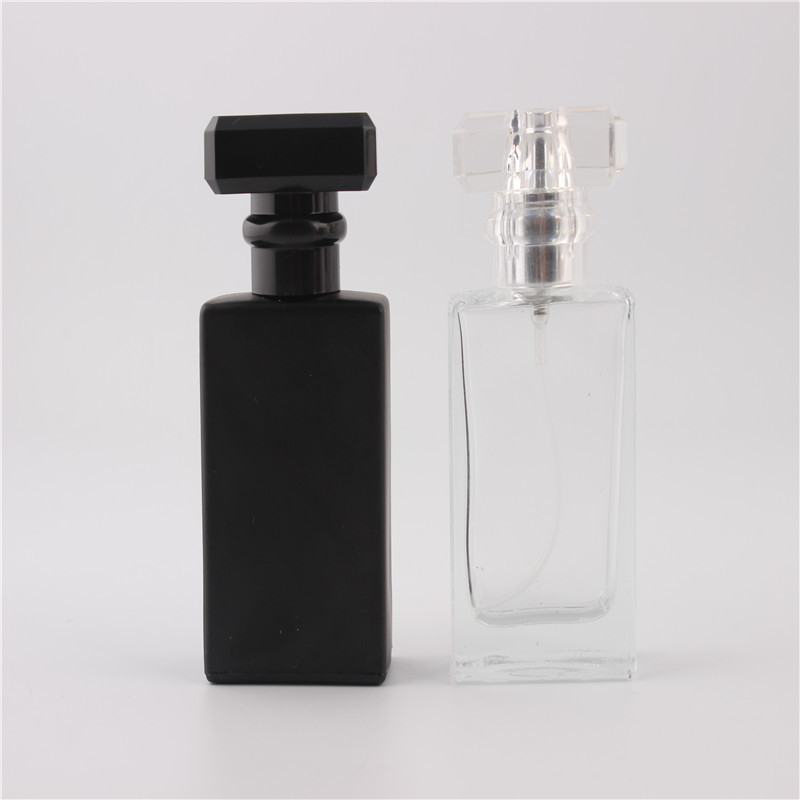 5 styck 30ML Fashion Portable Transparent CLEAR Glas Parfymflaska Med Aluminium Atomizer Tom Kosmetiskt Väska För Resande