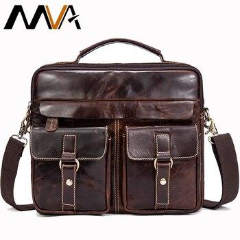 56ed51330f74 MVA мужская сумка-мессенджер мужской портфель из натуральной кожи мужские  сумки Деловые повседневные дорожные сумки для мужчин ts мессенджер.
