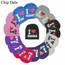 Baby Letter Hat I Love Mama Papa Cotton Cap Infant Toddler Children Kid