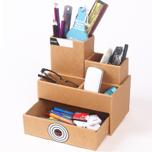 Paper Desktop Drawer Storage Box/creative High capacity DIY Assembly practical File sorting box
