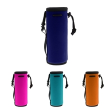 Insulated Neoprene Water Bottle Holder Cooler Cover Sleeve Tote Bag  Biker Portabotellas Porte-bouteilles