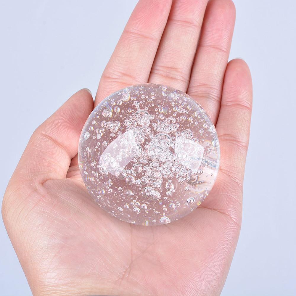 Flat glass marbles crafts - Flat Glass Marbles Crafts Flat Glass Marbles Crafts 1pcs 50mm Crystal Glass Bubble Ball Quartz