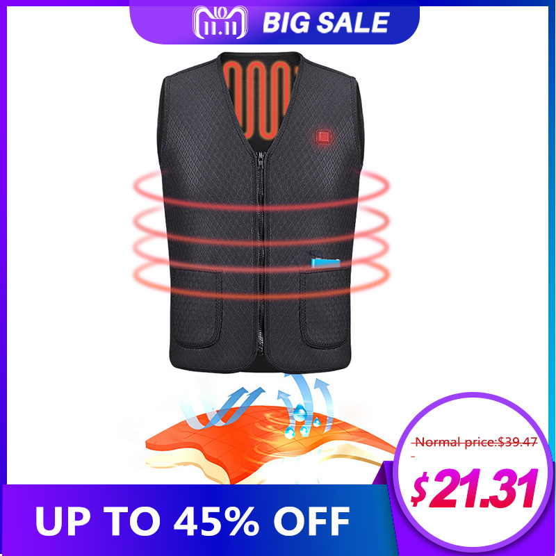 100% Brand New Outdoor Riding Skiing Fishing USB Charging Electric Heated Vest Warm Electric Heated Clothing потребительские товары brand new 1 usb 2