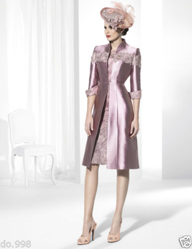 Lace Mother Of The Bride Outfit Long Coat Women Formal Dress