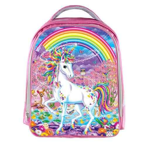 Фэнтези животных красочный рюкзак с единорогом Ангел кошка девушки Bookbag Мальчики школьные сумки детские рюкзаки для девочек-подростков лучший подарок