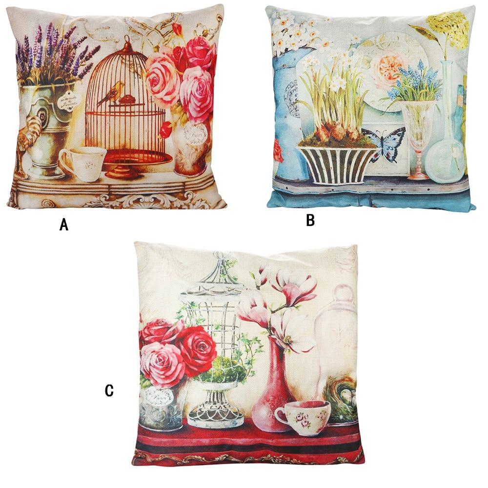 pillowcases for retro flowers and birds