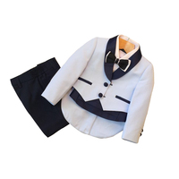 Kids Blazer Boy Suit Autumn Flower Boy Dress Male Leisure Children Tuxedo Toddler Year Old Small Suit Winte