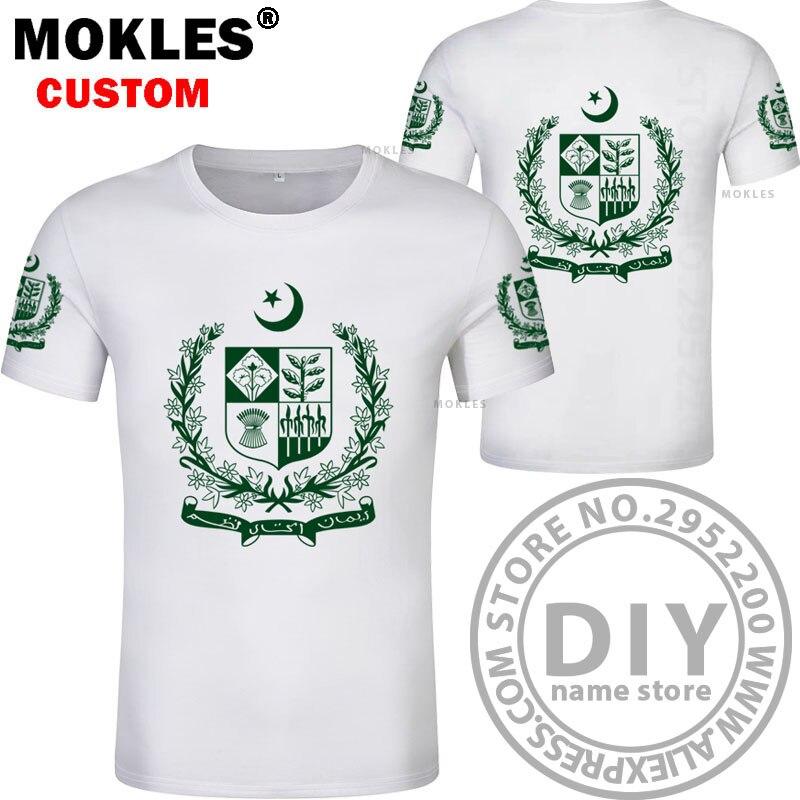 PAKISTAN t shirt diy brezplačno po meri ime številka pak t-shirt - Moška oblačila - Fotografija 4