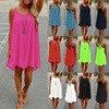 Sexy Strap Chiffon Women Dress 2016 Summer Style Casual O Neck Sleeveless Loose Mini Cami Dress