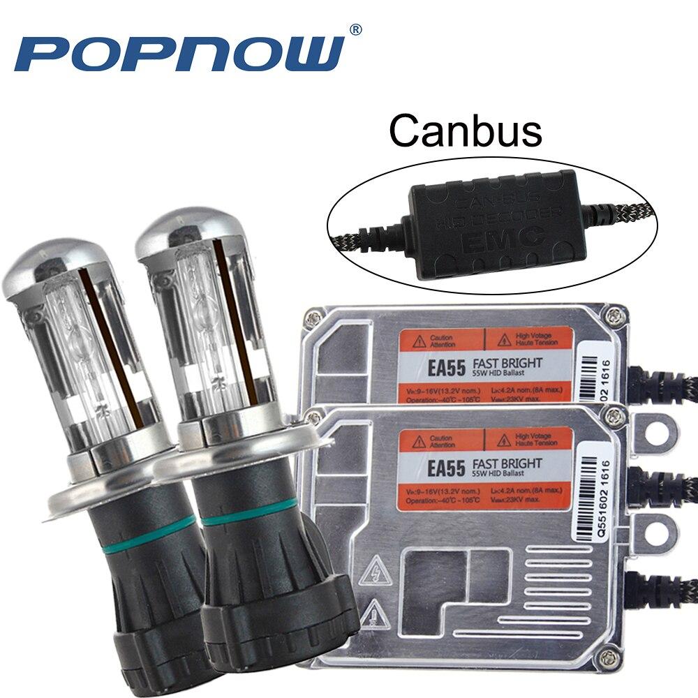 AC 55 W Canbus Xenon H7 kit H1 H3 H4 H11 9005 9006 D2S voiture phare mince ballast ampoule xénon 4300 K 6000 K 8000 K xénon rapide lumineux