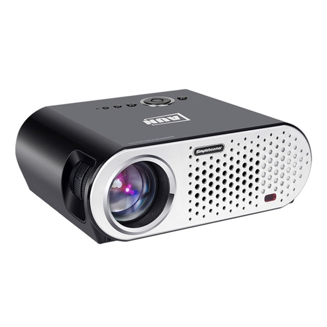 Mini Proyector LCD 3200Lm 1280x768 Píxeles de Vídeo Proyector HD 1080 P HDMI Home Theater Proyectores Proyector Beamer