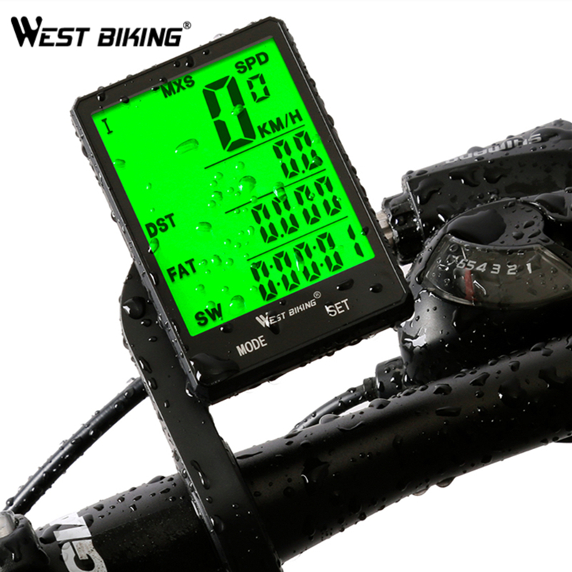 WEST BIKING Touch Screen Cycling Computer Super Waterproof 2.8Large Screen Bicycle Speedometer Multiduty Upgraded Bike Computer