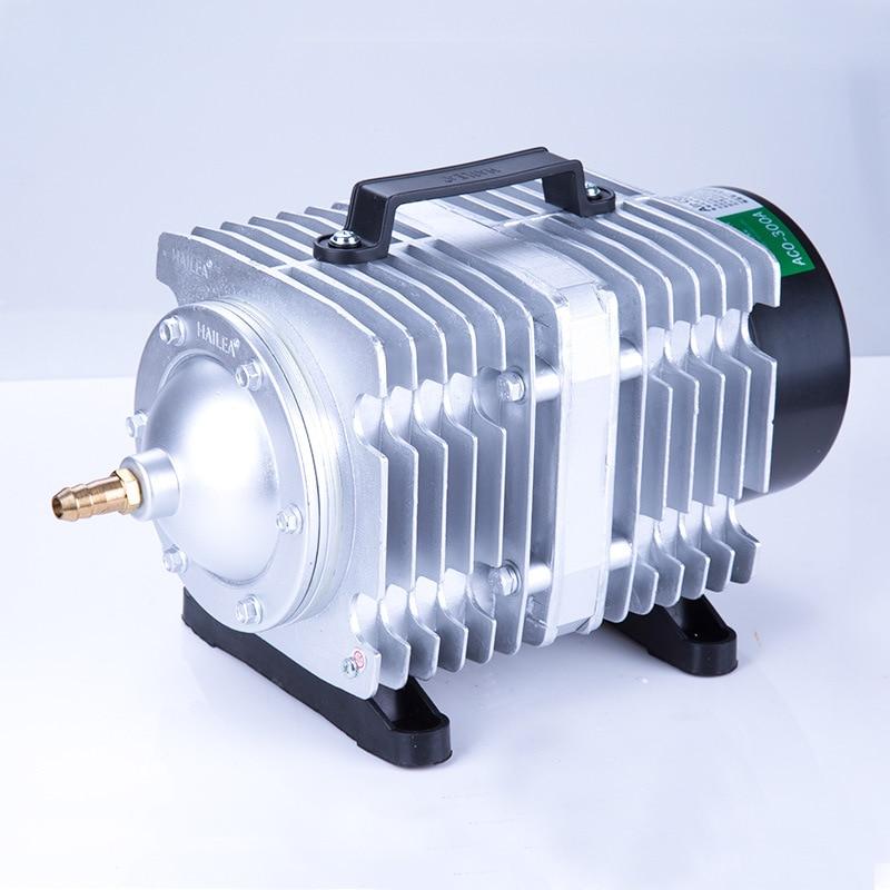 220 В Hailea внешний высокомощный AC e-магнитный воздушный насос пруд с рыбой кислородный насос компрессор для пруда воздушный аэратор насос ACO-208 ...