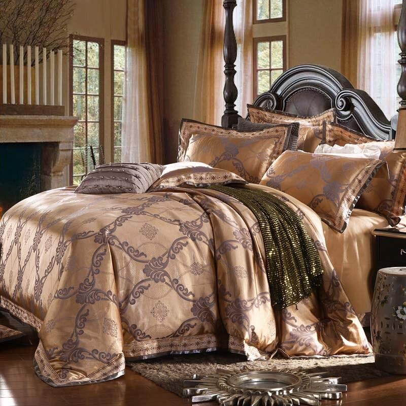 Heimtextilien Bettwäsche Set Jacquard Luxus Baumwolle Bett Set - Haustextilien - Foto 1