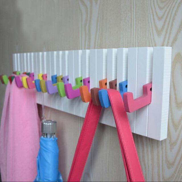 Aqumotic Bedroom Hooks 1pc Long Coat Rack Wall Hanging Piano Keys Sticky  Hook Up Behind The