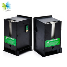 Winnerjet 2 pcs T6711 waste ink tank with chip for Epson WF-7110 WF-7510 WF-7610 WF-7620 WF-3540 WF-3620 WF-3640 ET-16500 цена и фото