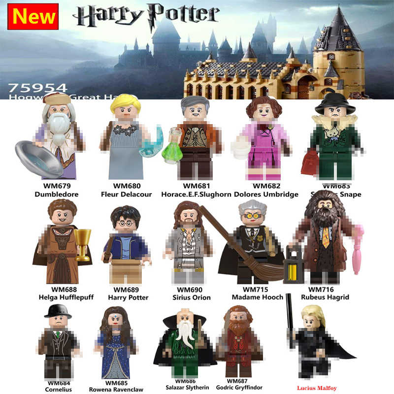 Para Os Animais Fantásticos Hagrid Dobby Snape Harry Magia Figuras Lord Voldemort Dumbledore Hermione Ron Modelo building Blocks Brinquedos