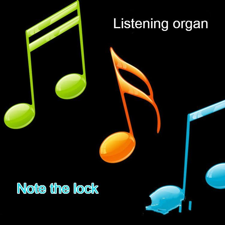 Real life Room Escape game props listening organ notes lock organ tones the lock
